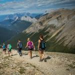 Hiking Sulphur Skyline Trail in Jasper