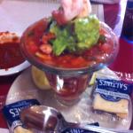 Shrimp cocktail & Fiesta Tostada