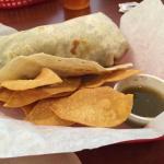 One big burrito and delicious!