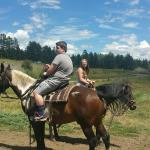 Horseback riding and some of the animals