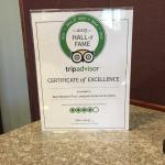 Love seeing their award from trip advisor