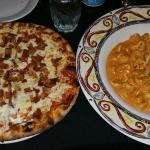 Lobster pasta, 1 lbs of cleaned meat in a rose sauce. Panchetta pizza and tortellini cardinale.