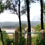 View of Varasgaon dam reservoir from the property