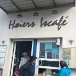 Indgangen til Høiers Iscafé