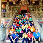 To our delight, this cute group of Malaysian school children hijacked our photo at the Khoo Kong