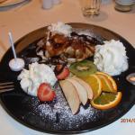 Le dessert Eispalatschinke
