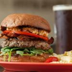 Pimento Burger with Pasta Salad & Green Man ESB