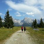 Percorso trekking vista Dolomiti del Brenta