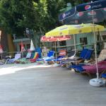 sunloungers all bagged by 10am
