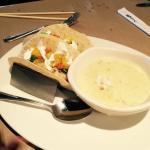 Pre-flight lunch at bonefish grill