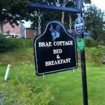 Brae Cottage sign