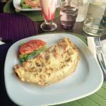 Omelette from the restaurant