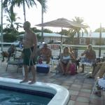 Guests enjoying the pool.