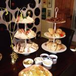 Lovely sandwiches and cakes