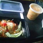 papaya salad and musseman curry