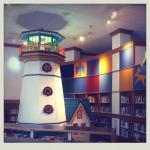 cool light house inside the kids section