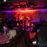 Elijah Bland singing to an engaged audience at 54 Below in NYC!