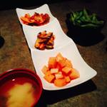 Miso, Edamame and appetizers