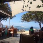 beach at table
