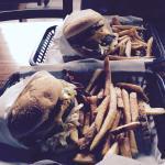 Two KILLER killer burgers! YUM