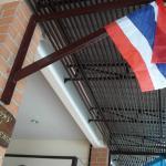 THAILAND FLAG HANGING  OUTSIDE HOTEL