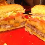 Banzai burger with pineapple
