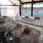 Wedding set up on the River Deck
