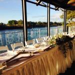 Wedding Setup on H20 River Deck