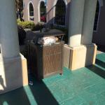 Garbage at entrance