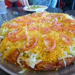 Delicious and loaded taco pizza