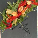 Tartine de légumes confits