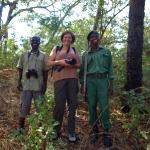 Game walk with Godfrey (guide) and Isaac (ranger)