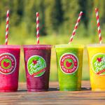 Our Fresh Pressed, Berry, Tropical Smoothies