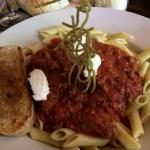 Mostaciolli Bolognese. One of the 4 entrees under $15.