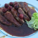 Magret sauce aux cerises noire