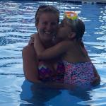 Me and my little girl in the pool!