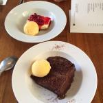 Yum yum! #cheesecake #warmchocolatecake