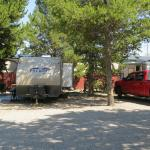 Our trailer in site #19 on the left; the neighbor's truck in site #20 on the right.  Cozy.