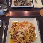 Futtucine with truffle oil and mushrooms and tagliatelle AOP