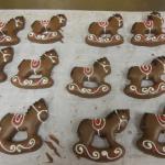 Christmas honey cake horses