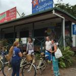They start the tours right on the main drag of Port Douglas.
