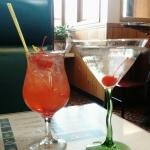 Singapore Sling and Lychee Martini