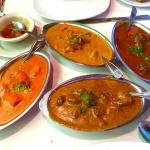 Chicken Masala, Lamb Korma, Lamb Curry, and Chicken Korma