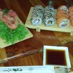 Sashimi y rolls