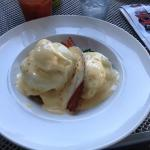 OMG, THE crab cakes benedict. Best hollandaise in a long time.