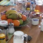 The pillars house breakfast table