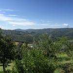 View from hotel over Tuscan hills