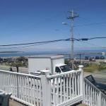 The view from the deck (wicker section)