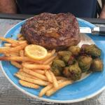 Ribeye with incredible Brussel sprouts!