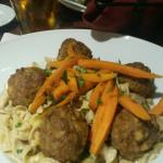 Boar meatball stroganoff!  This was phenomenal!